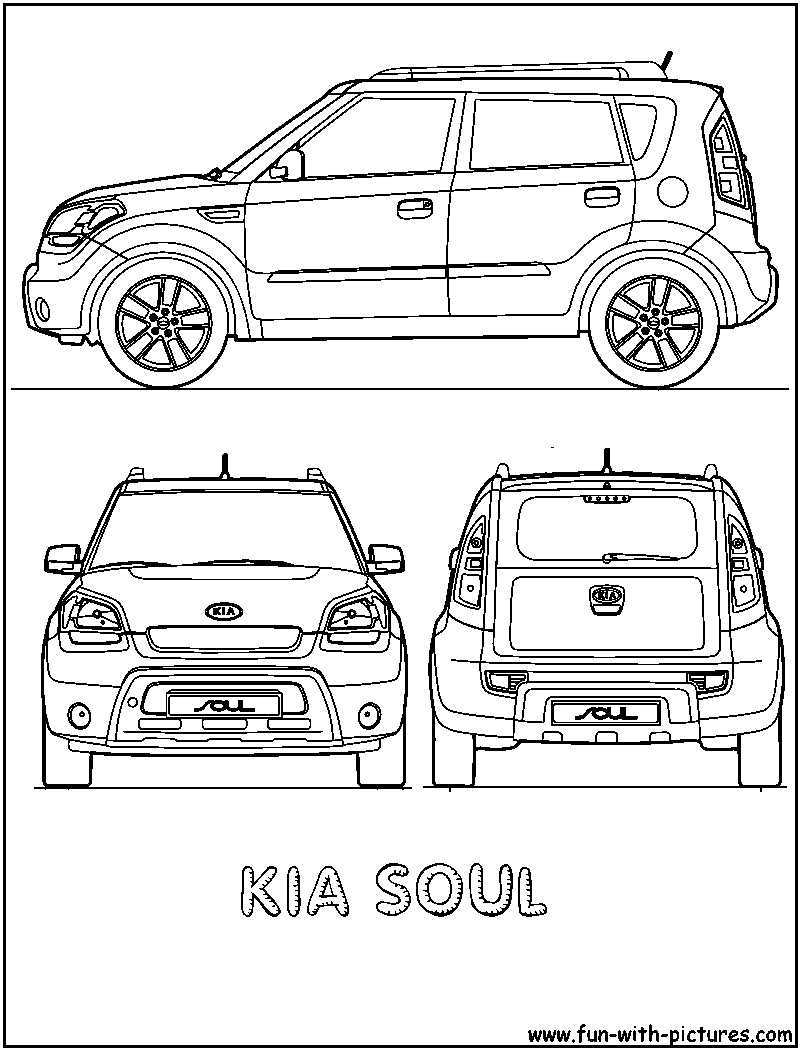 Kia Car Coloring Pages : Kia car colouring pages