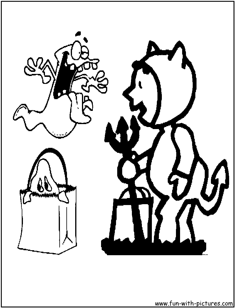Kids Halloween Coloring Page