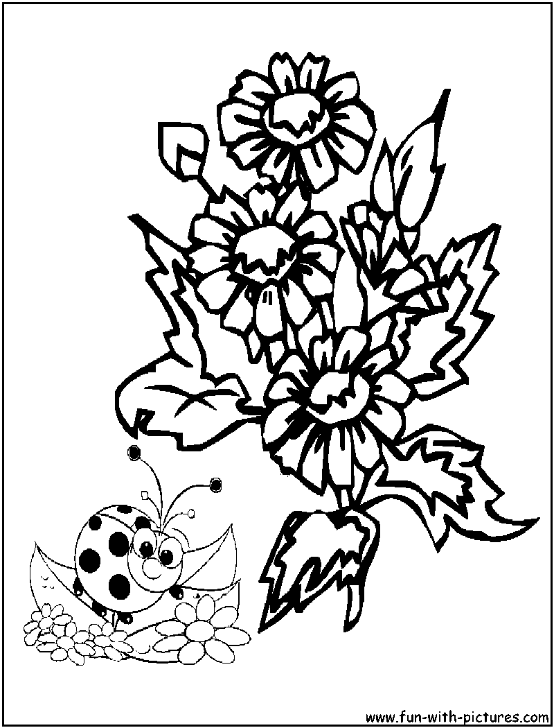 Flowers Coloring Pages - Free Printable Colouring Pages for kids to ...
