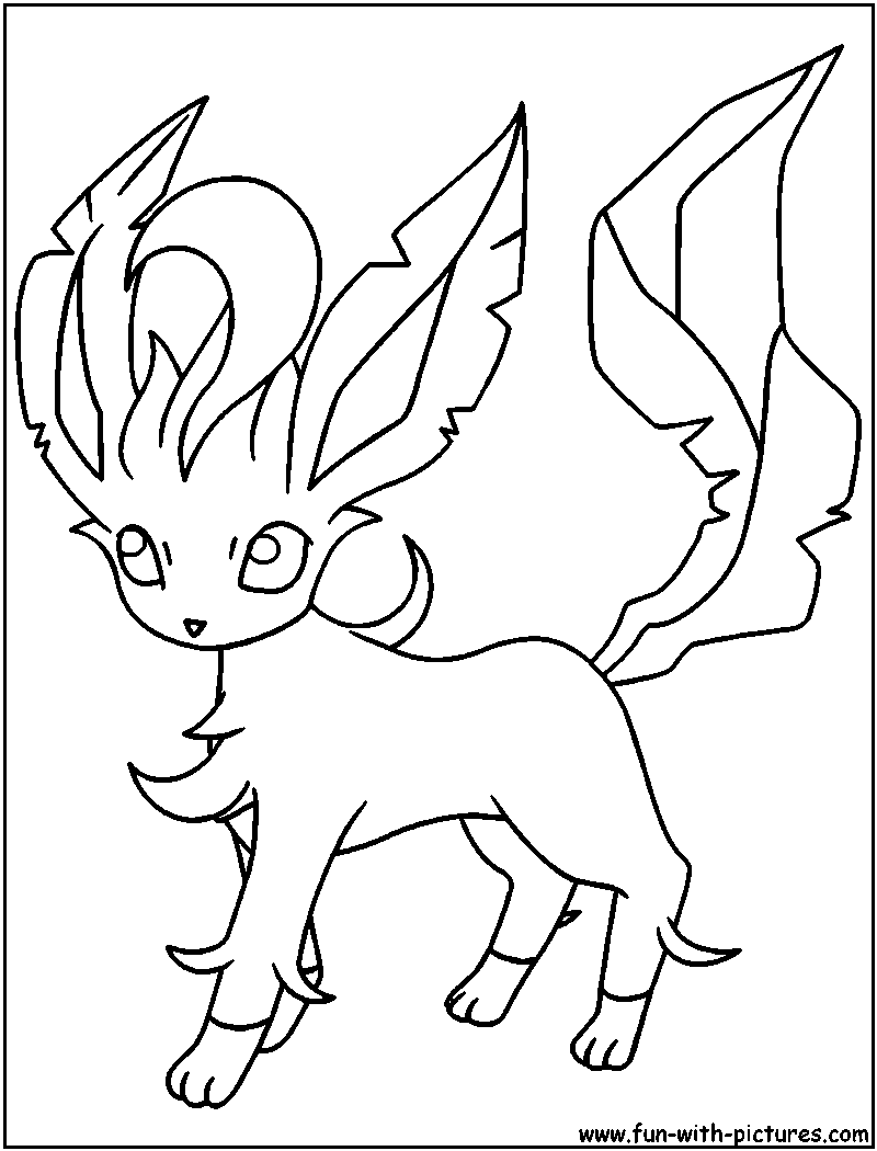 eevee evolutions coloring pages leafeon - photo#2