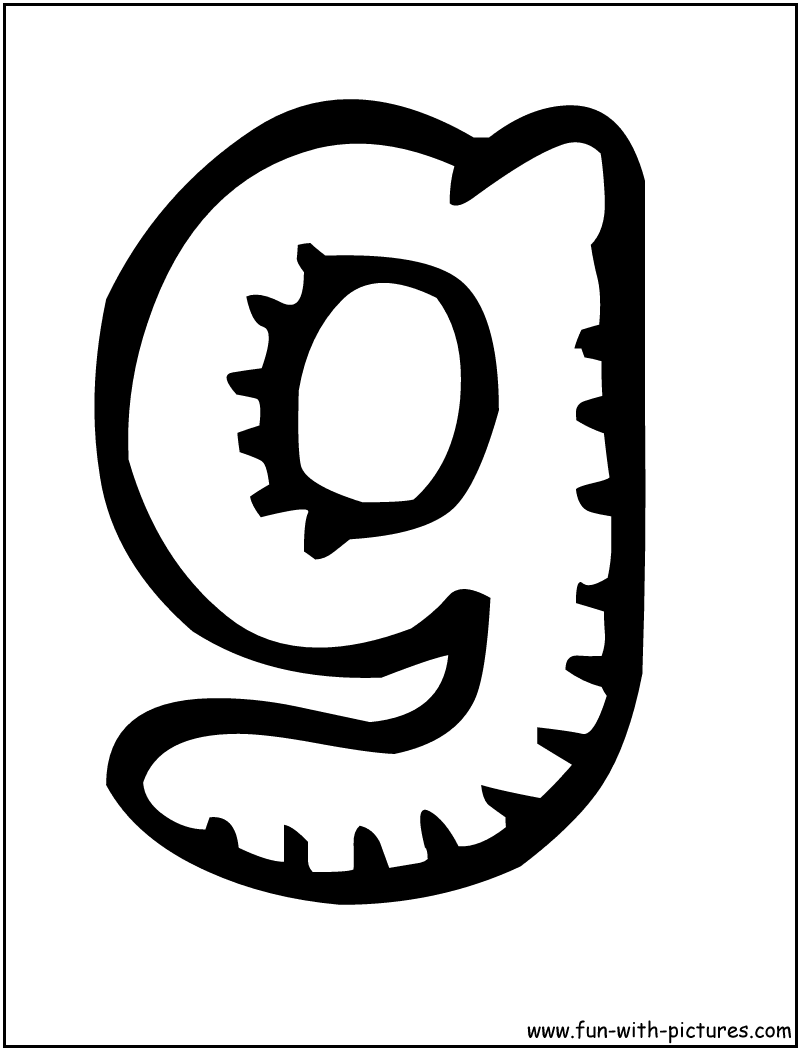 Coloring sheet letter g - Letter G Coloring Page