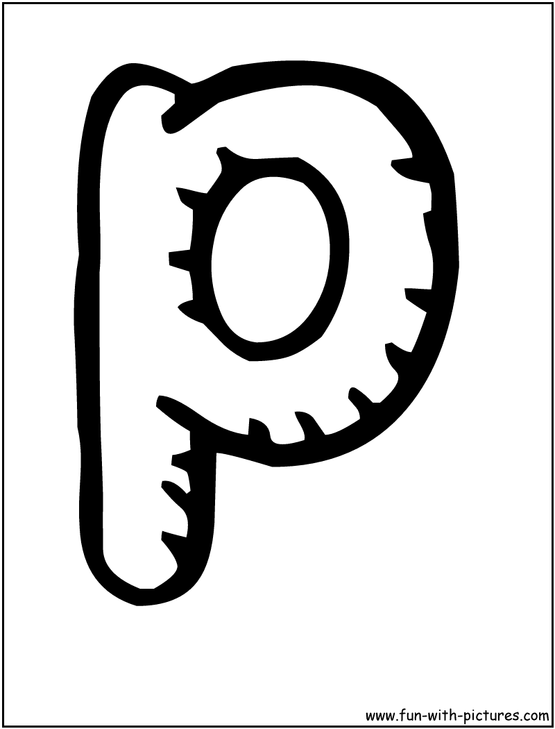 Free Coloring Pages Of Bubble Letter P