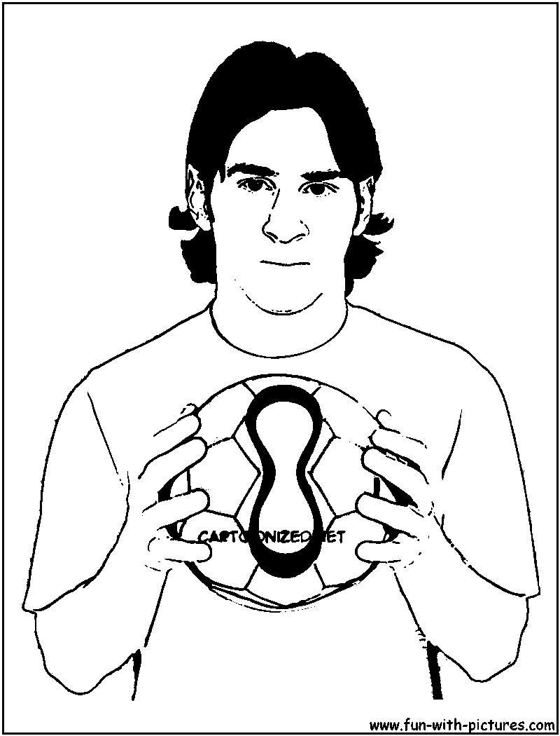 messi coloring page