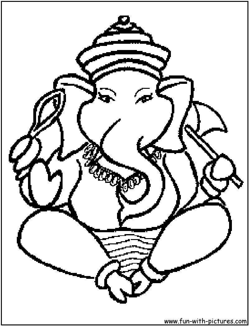 Hindu Coloring Pages Free Printable Colouring Pages for