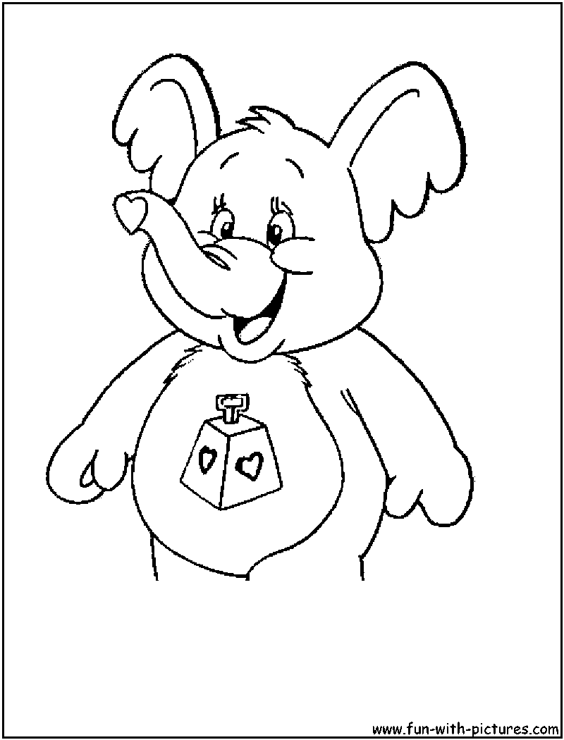 carebear cousin coloring pages - photo#8