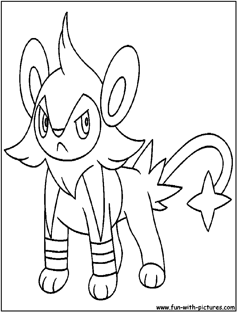 pokemon luxio coloring pages - photo#8