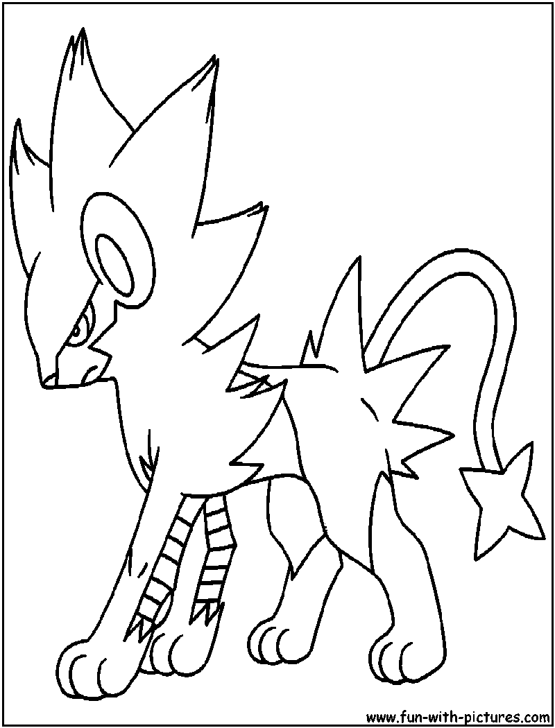 pokemon luxio coloring pages - photo#18