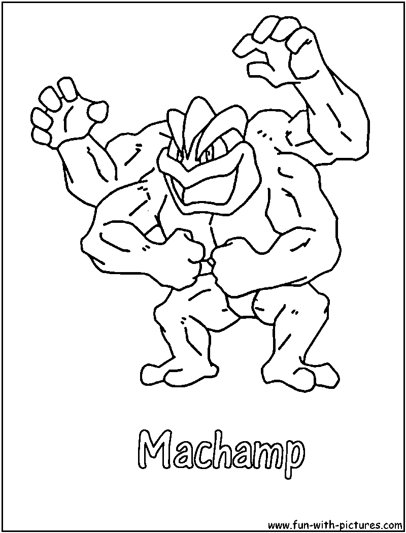 Pokemon coloring pages machamp - Machamp Coloring Page