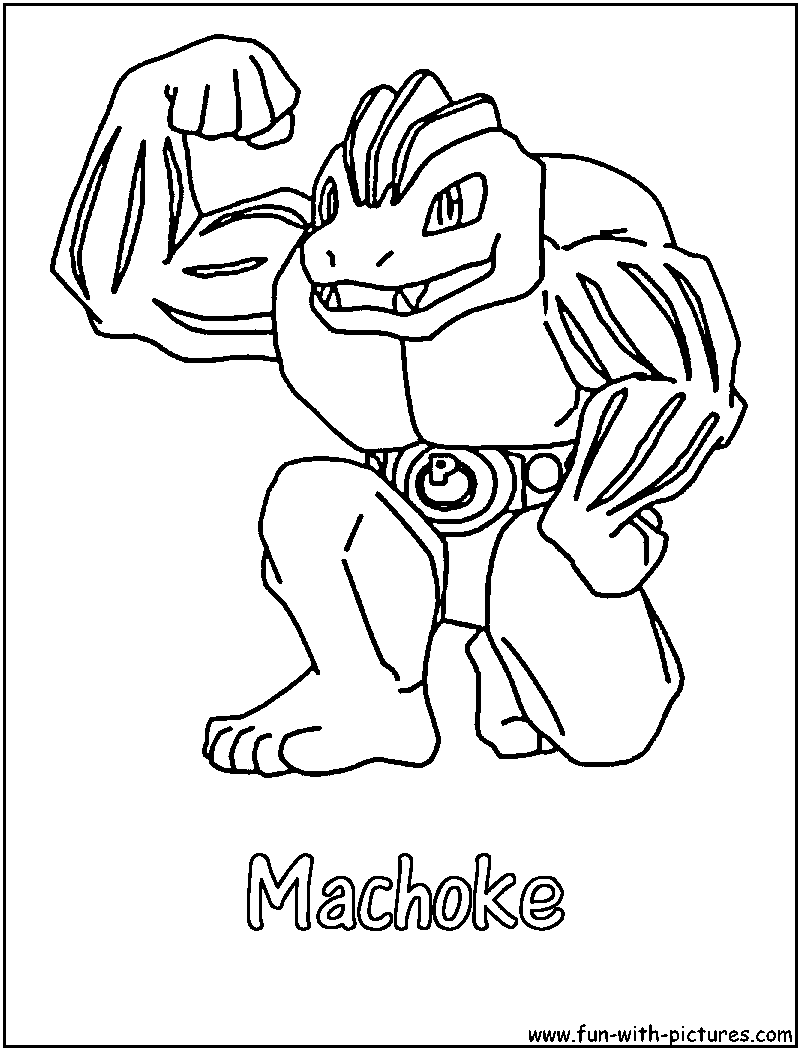 machamp pokemon coloring pages - photo#21