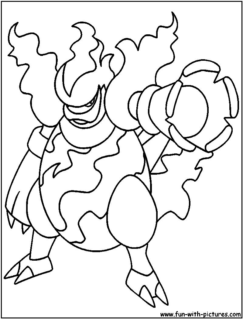 magmortar coloring page