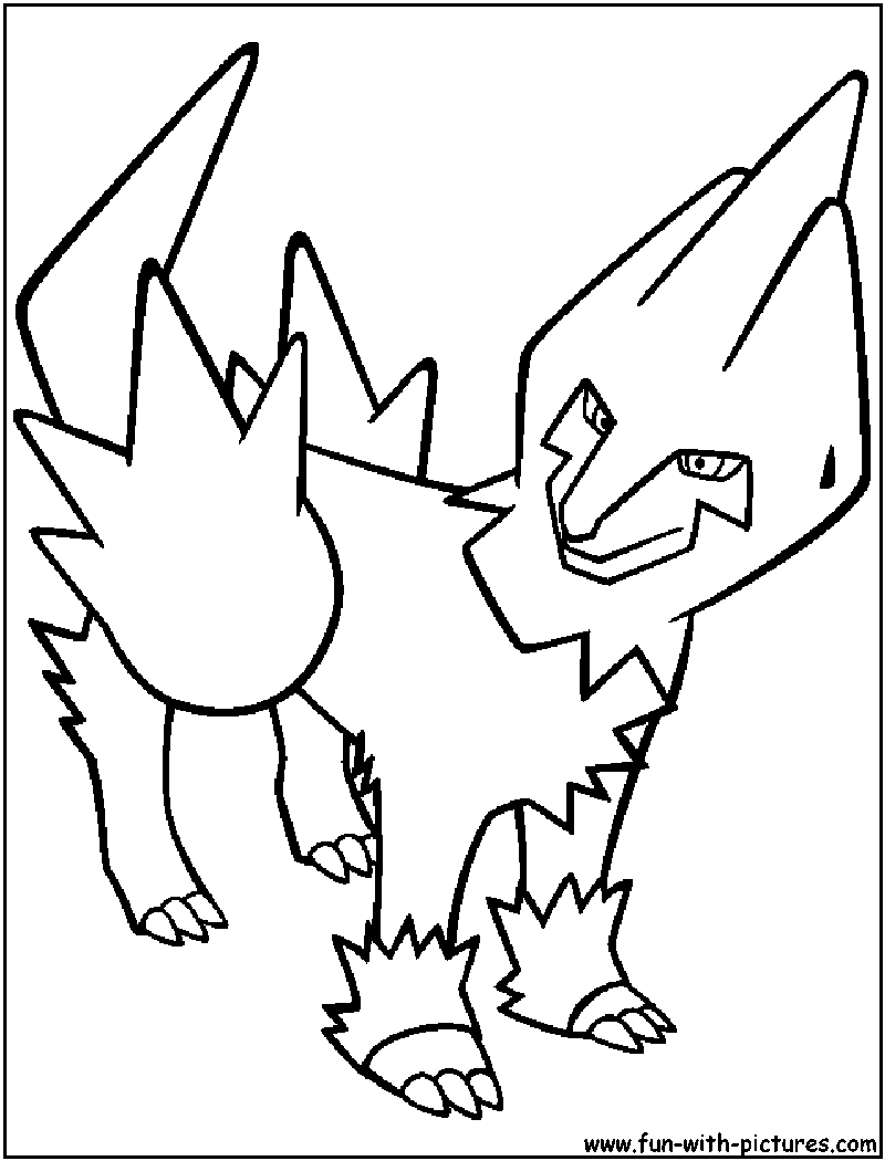 Mega Manectric Coloring Pages Coloring