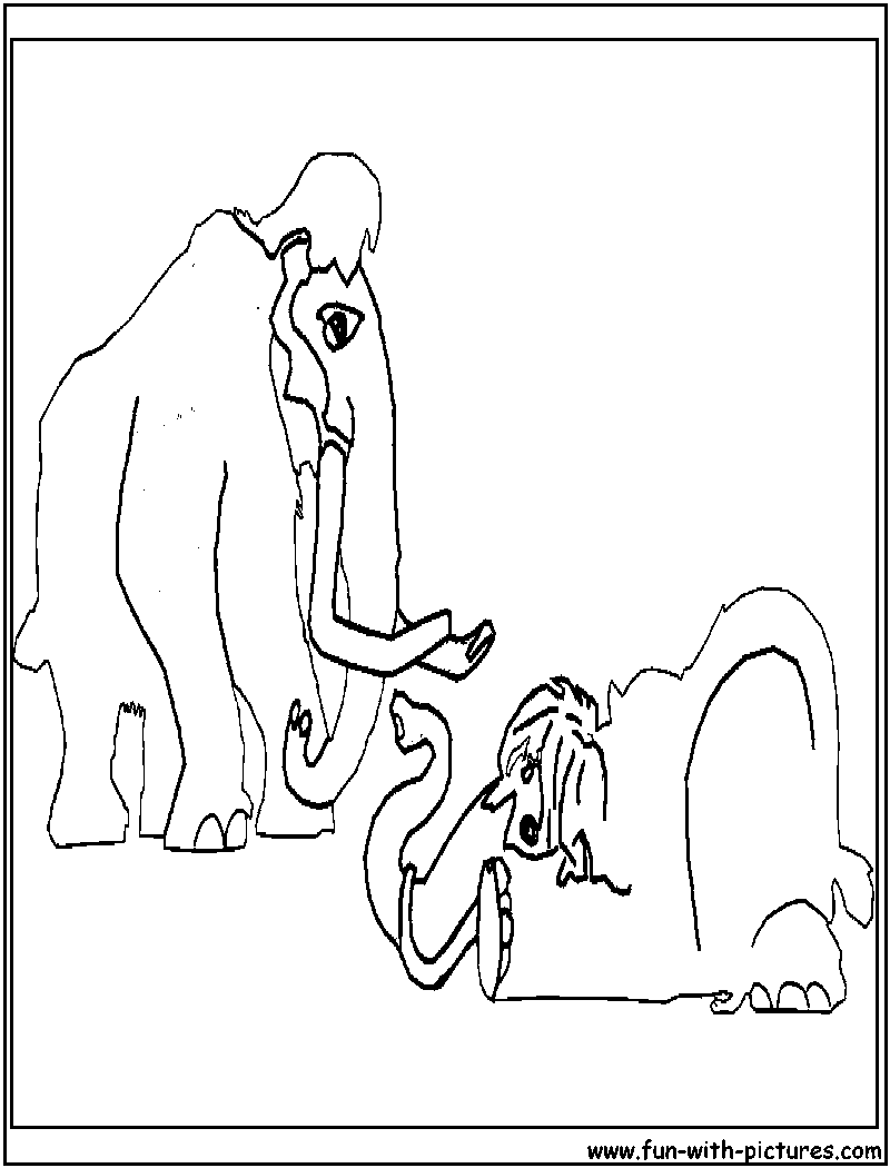 manny ellie iceage coloring page