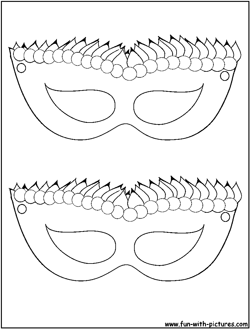 mardi gras masks coloring pages - masquerade mask template sketch coloring page