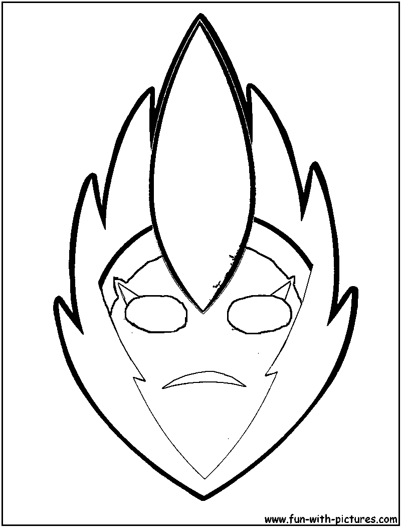 Tribal Masks Colouring Pages Page