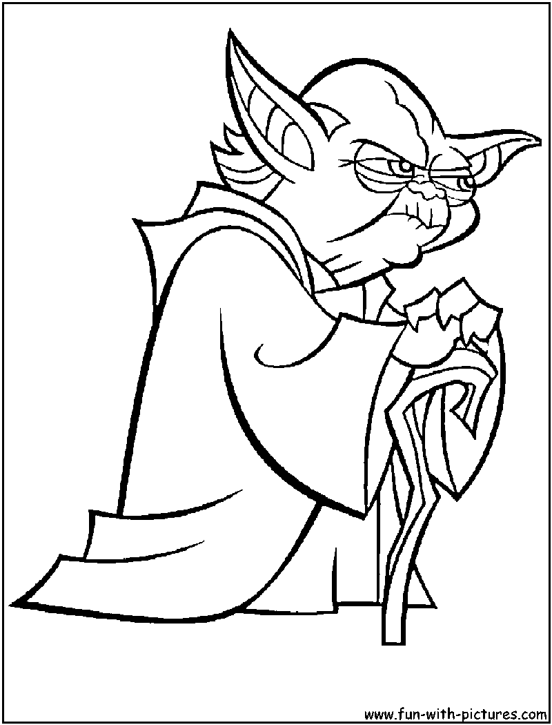 Free Coloring Pages Of Star Wars Yoda