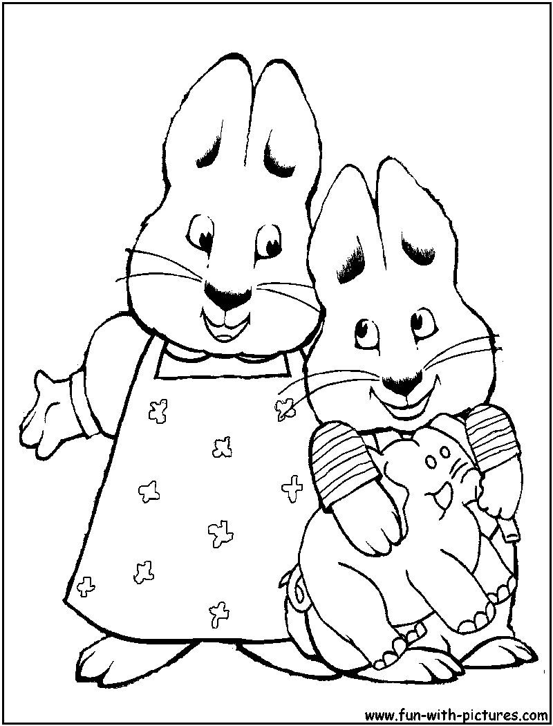 Max And Ruby Coloring Pages - Free Printable Colouring Pages for ...