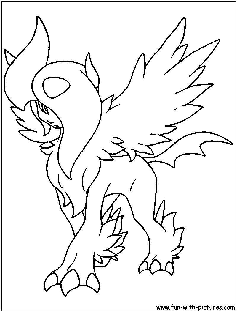 Mega Absol Coloring Page