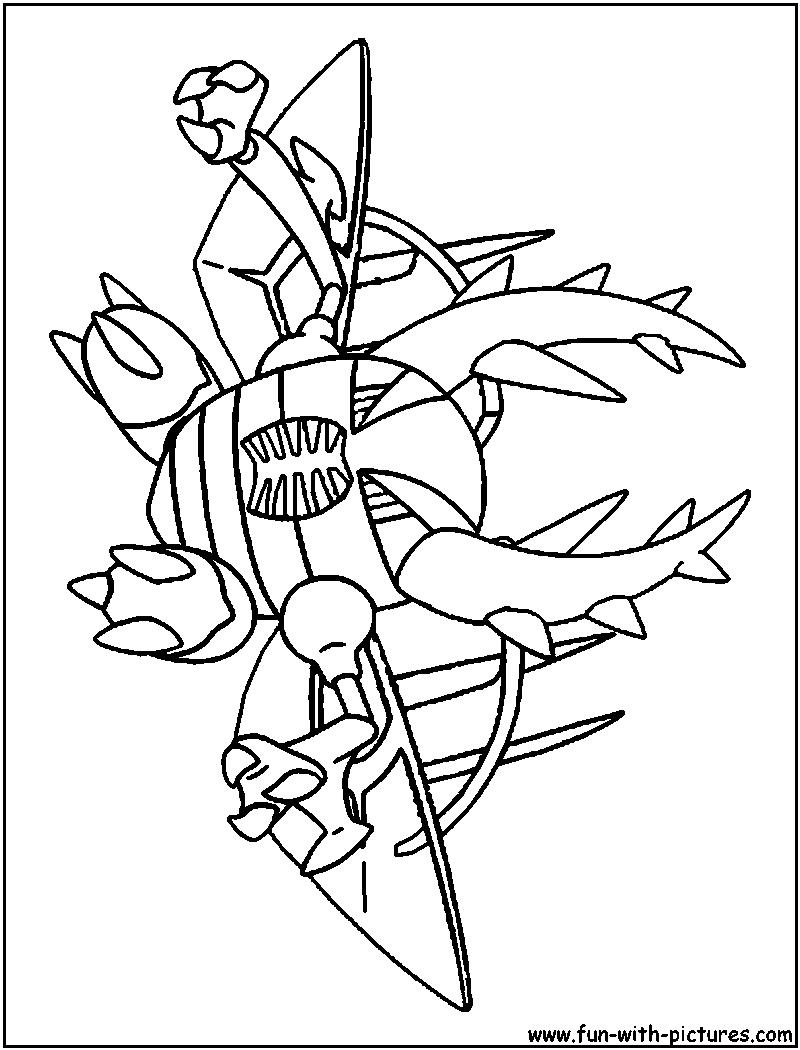 pinsir coloring page