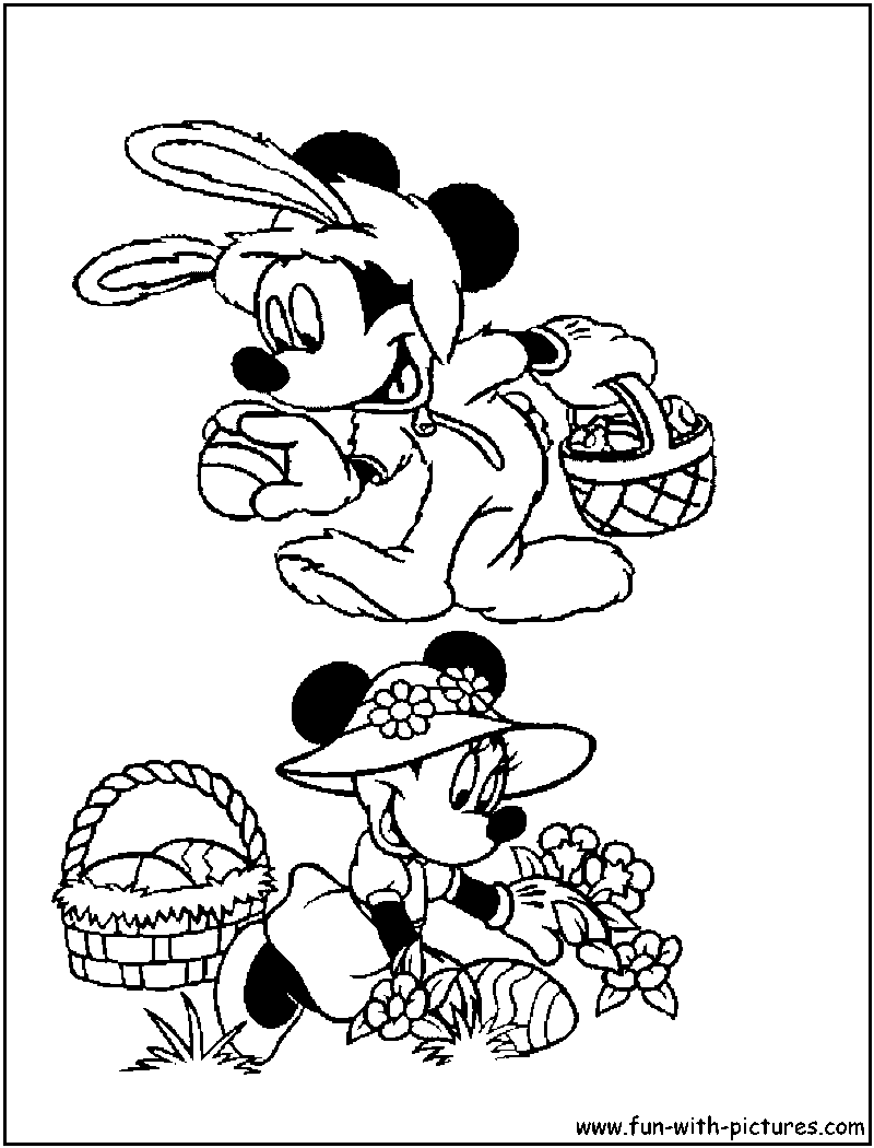 minnie mouse coloring pages easter - photo#26