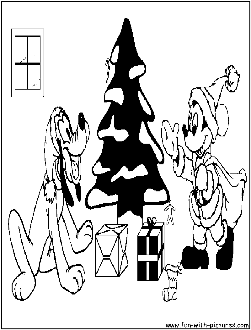 pluto christmas coloring pages-#41