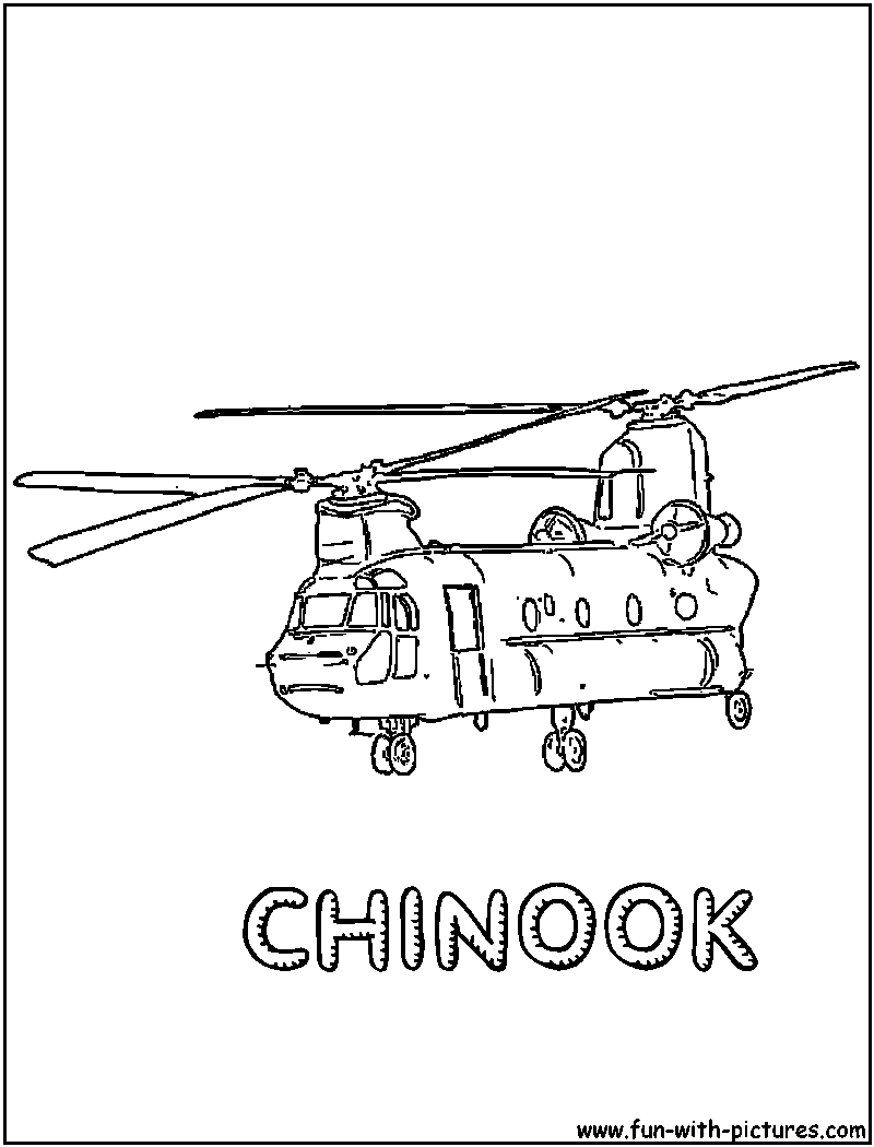 Militaryhelicopter Coloring Page