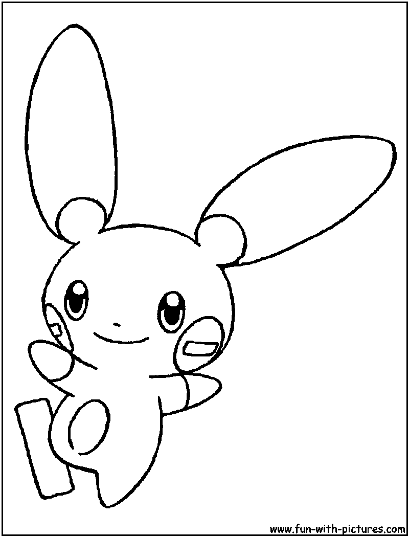 minun coloring pages - photo#2
