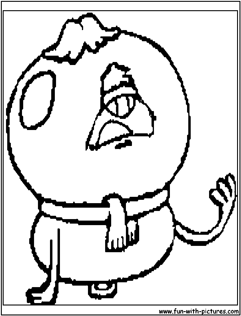 chowder coloring pages - mr fugu chowder coloring page