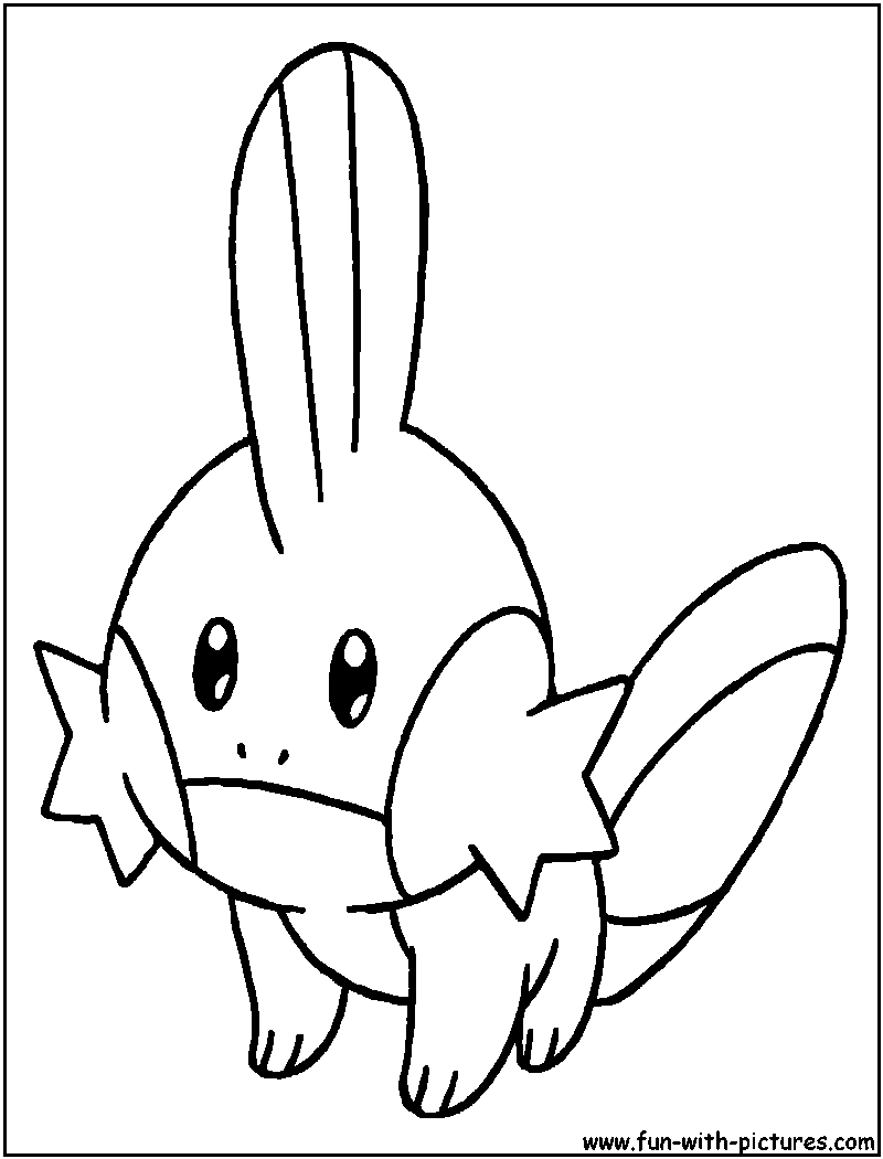 Mudkip coloring page for Water pokemon coloring pages