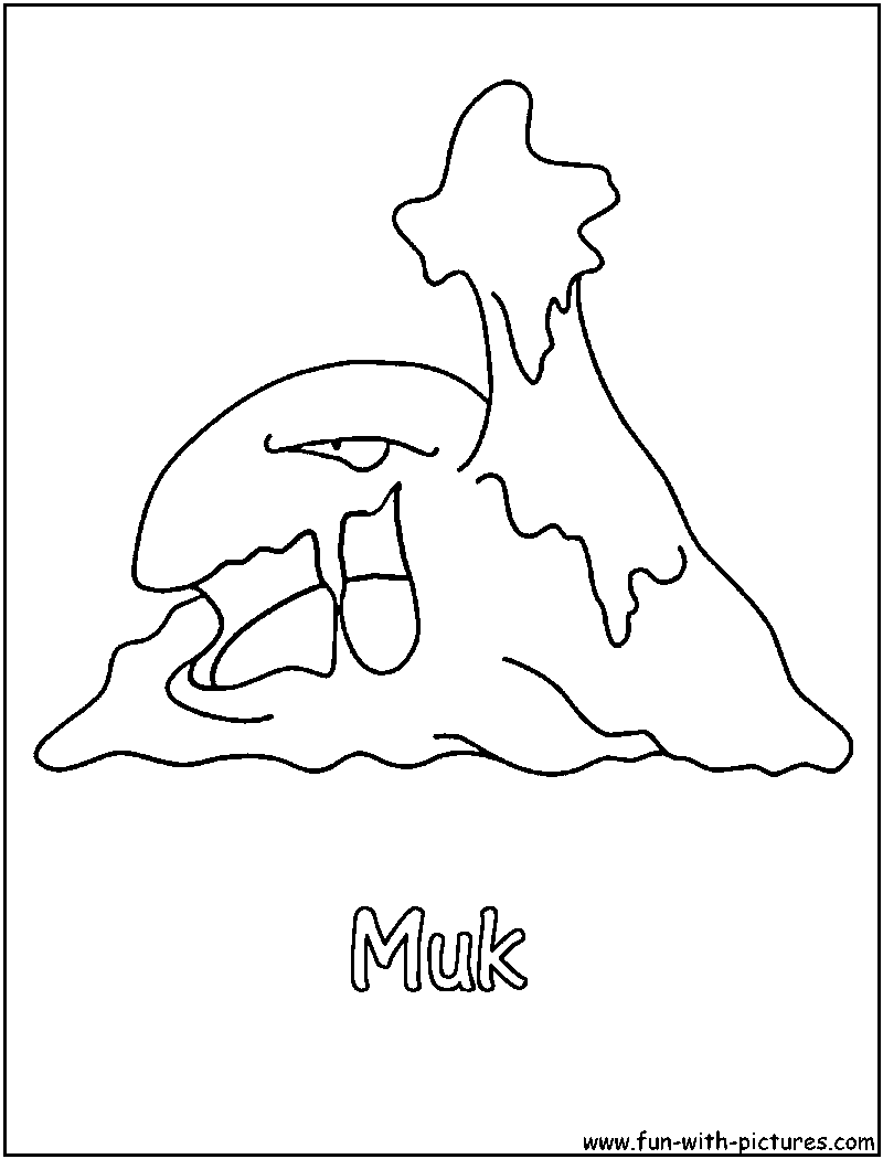 pokemon muk coloring pages - photo#10