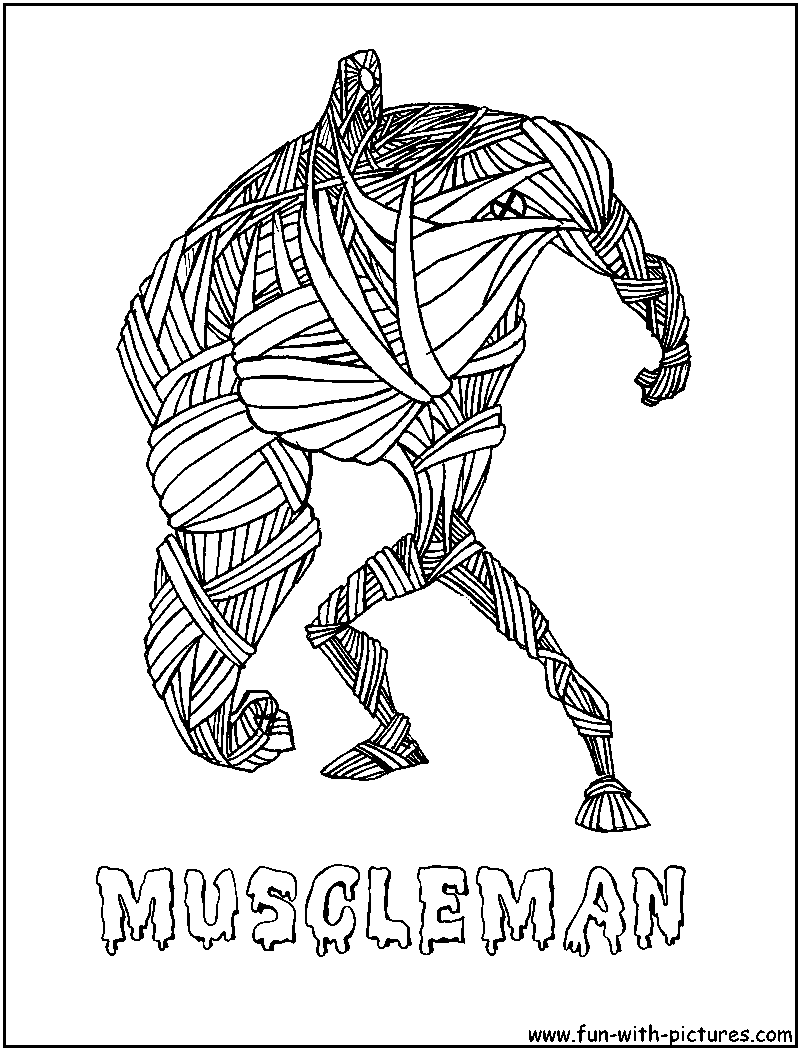muscle man coloring pages - photo#49