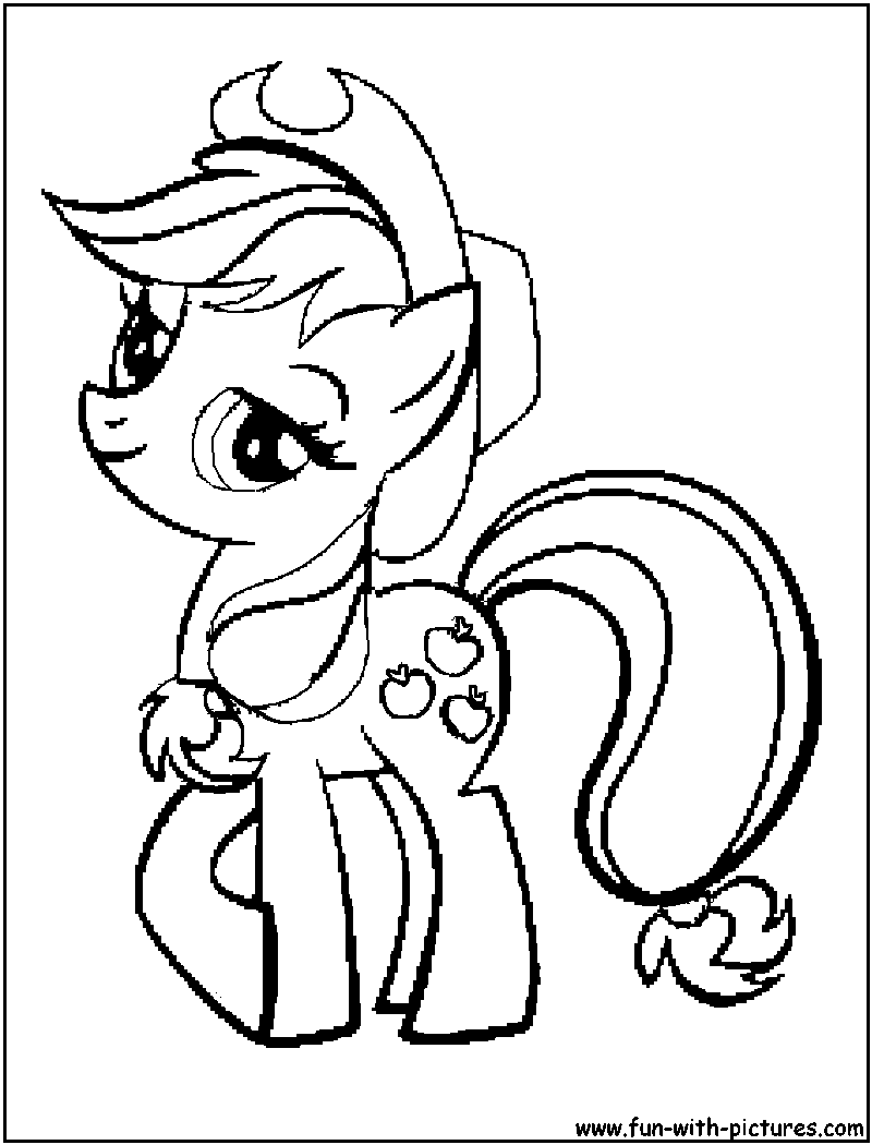 mylittlepony applejack coloring page Disney Princess Coloring Book Games