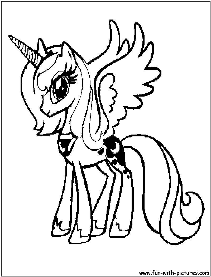 Mylittlepony Coloring Pages Princessluna Page