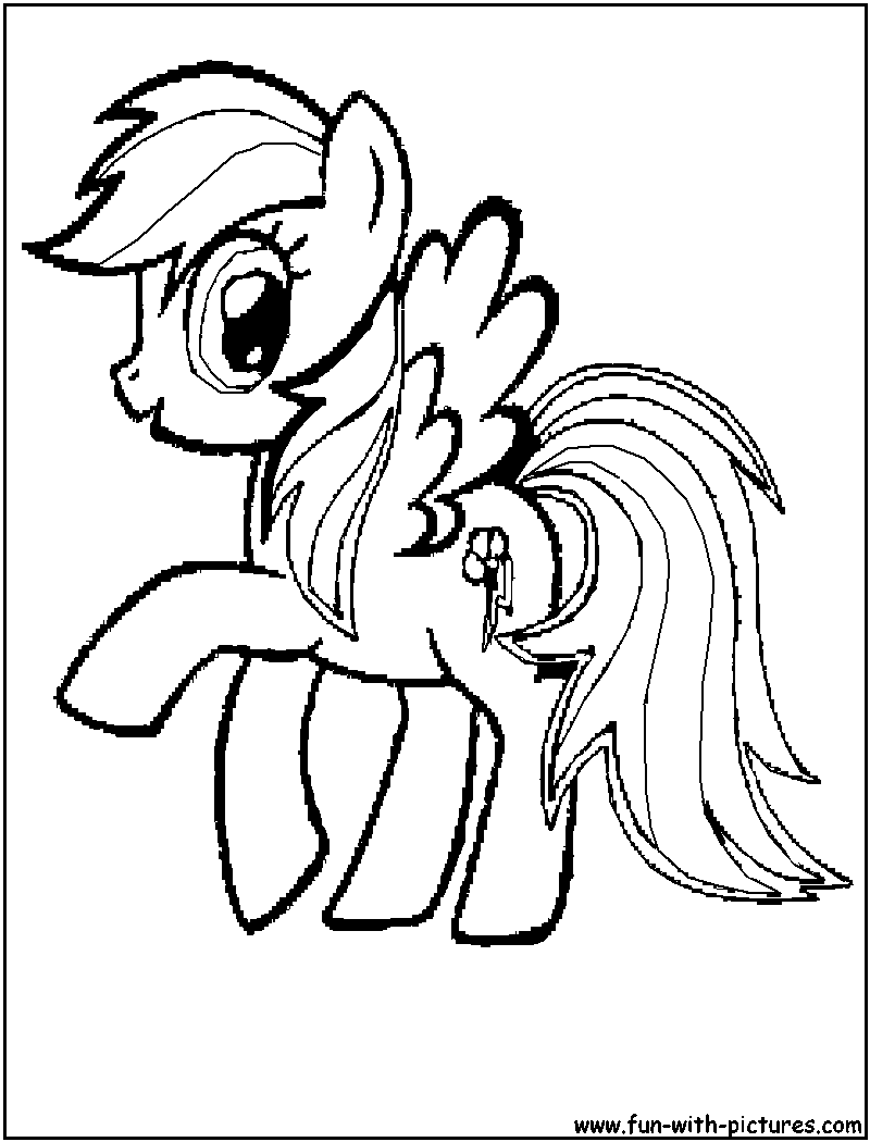 Mylittlepony Rainbowdash Coloring Page