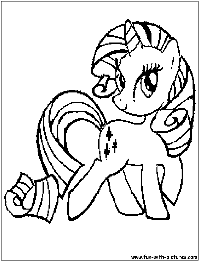 Free Coloring Pages Of Coloriage Rarity