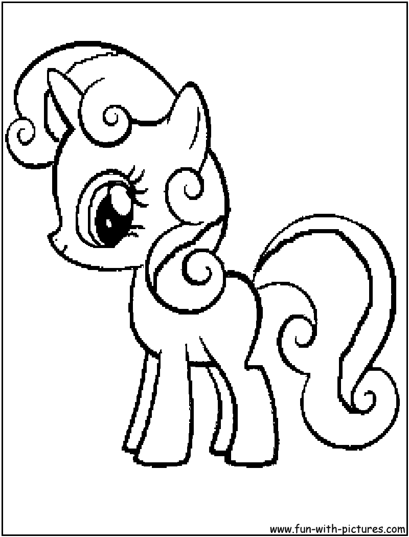 my little pony sweetie belle coloring pages - mylittlepony sweetiebelle coloring page
