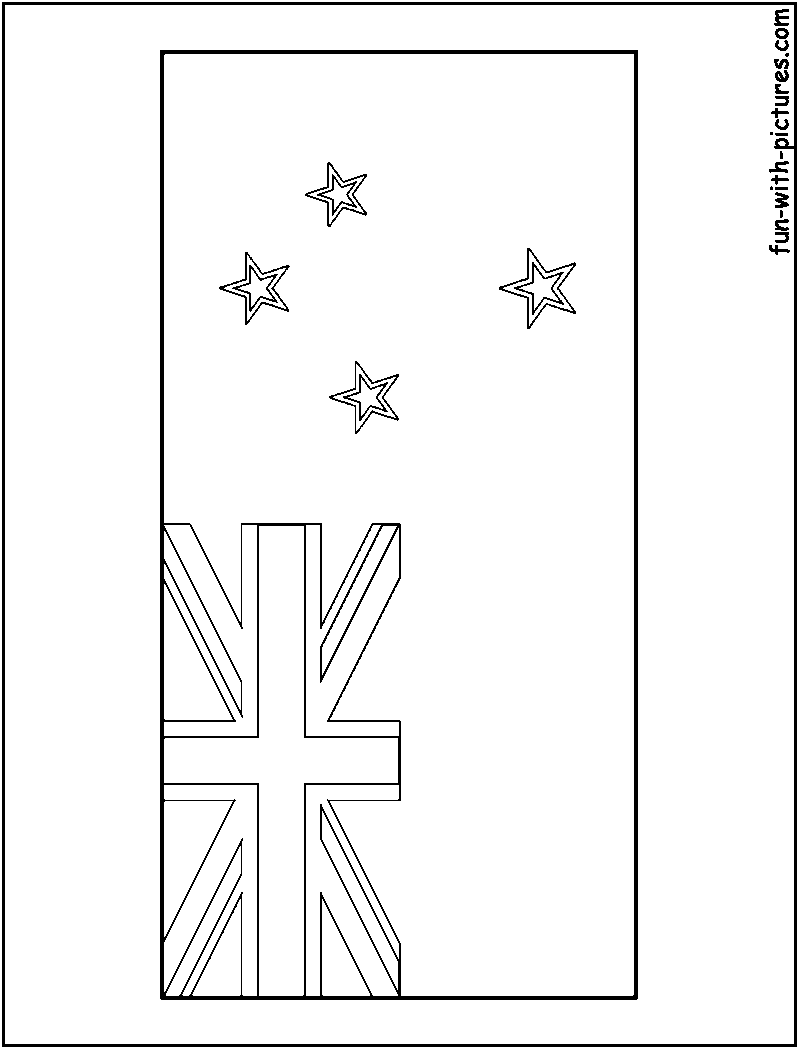 oceania flags coloring pages