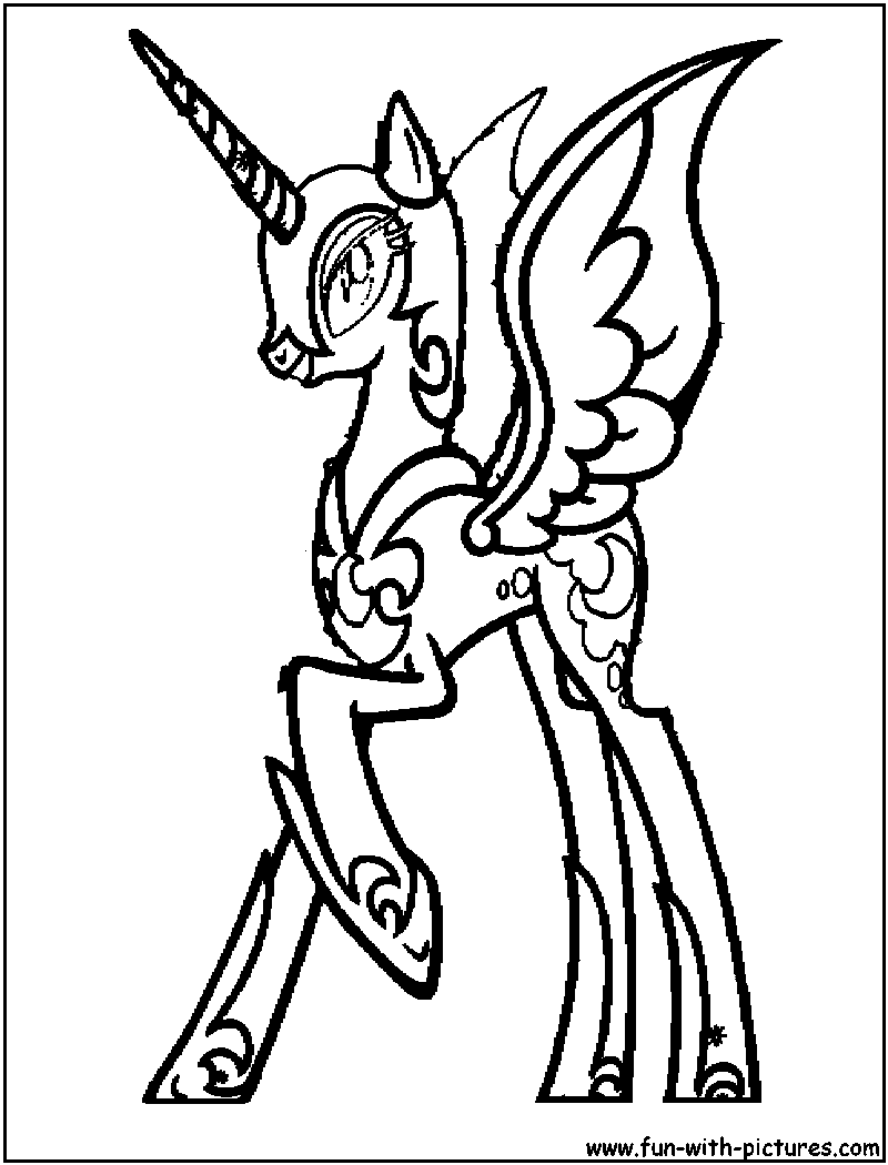 Ausmalbilder Kostenlos My Little Pony : My Little Pony Coloring Pages Nightmare Moon