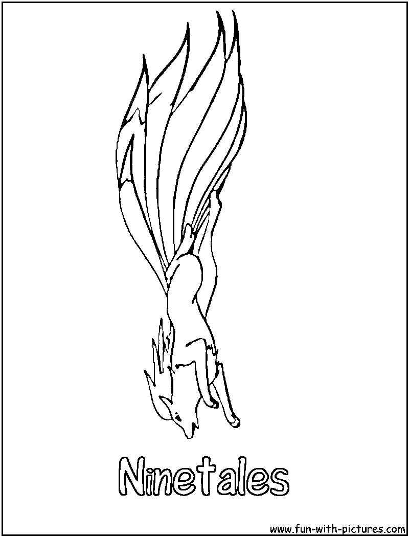 pokemon coloring pages ninetails - photo#22
