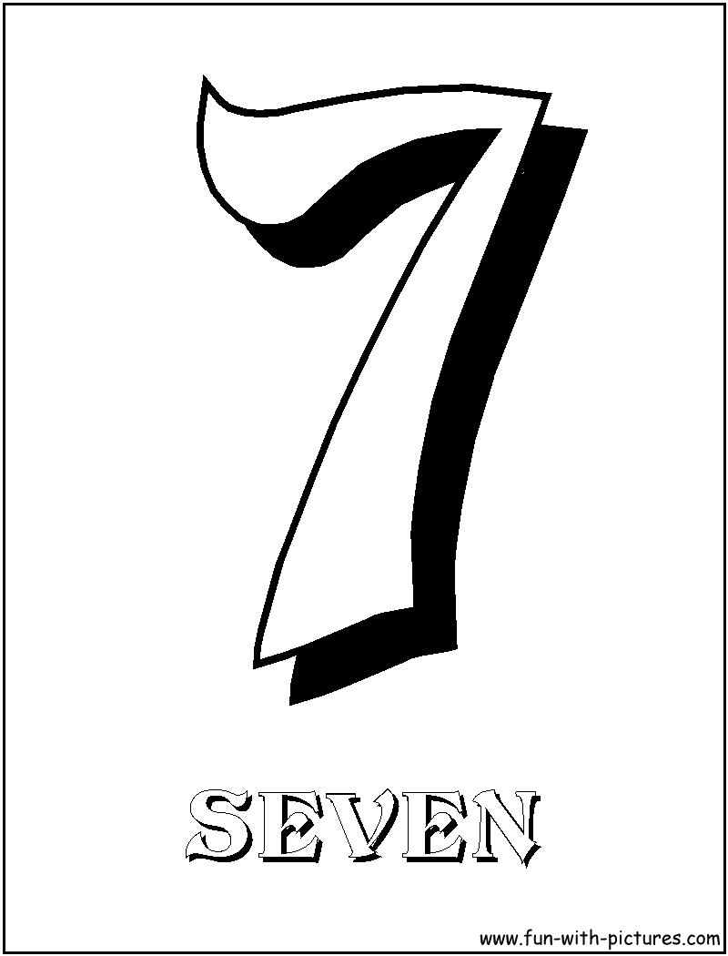 of the number seven 7