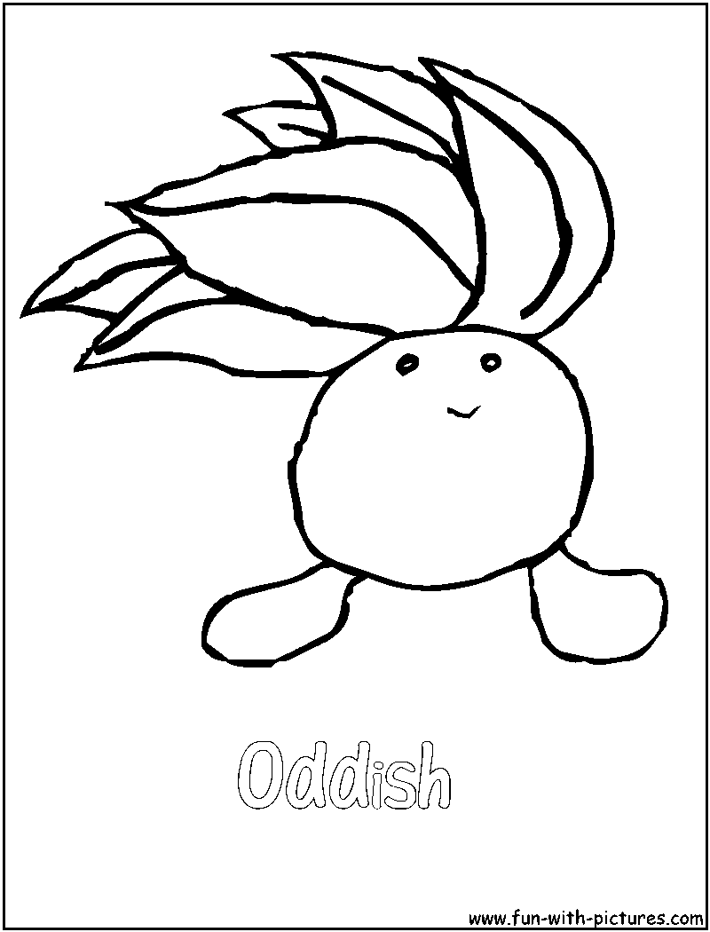 pokemon gloom coloring pages - photo#16