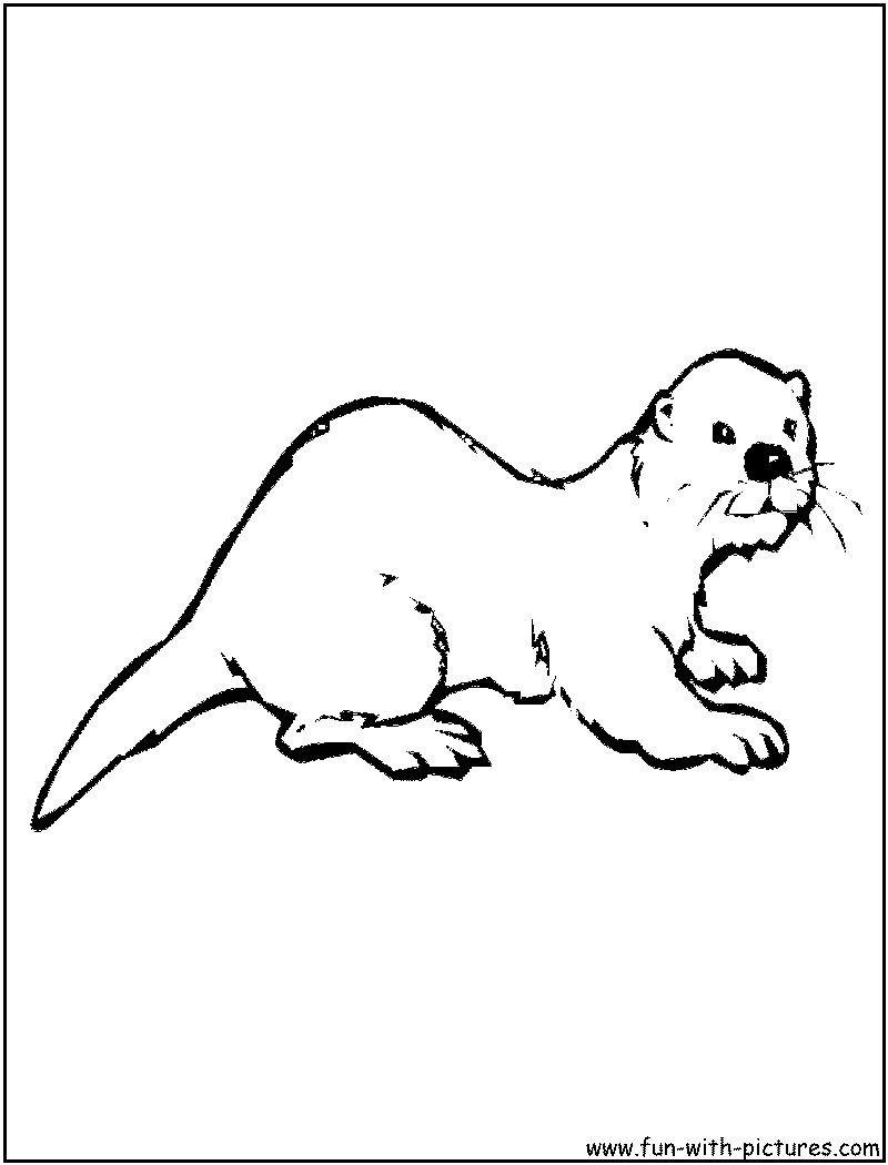 Otter Coloring Page Otter Coloring Pages