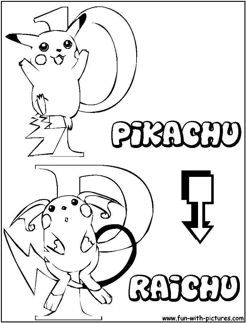 pokemon raichu coloring pages images pokemon images