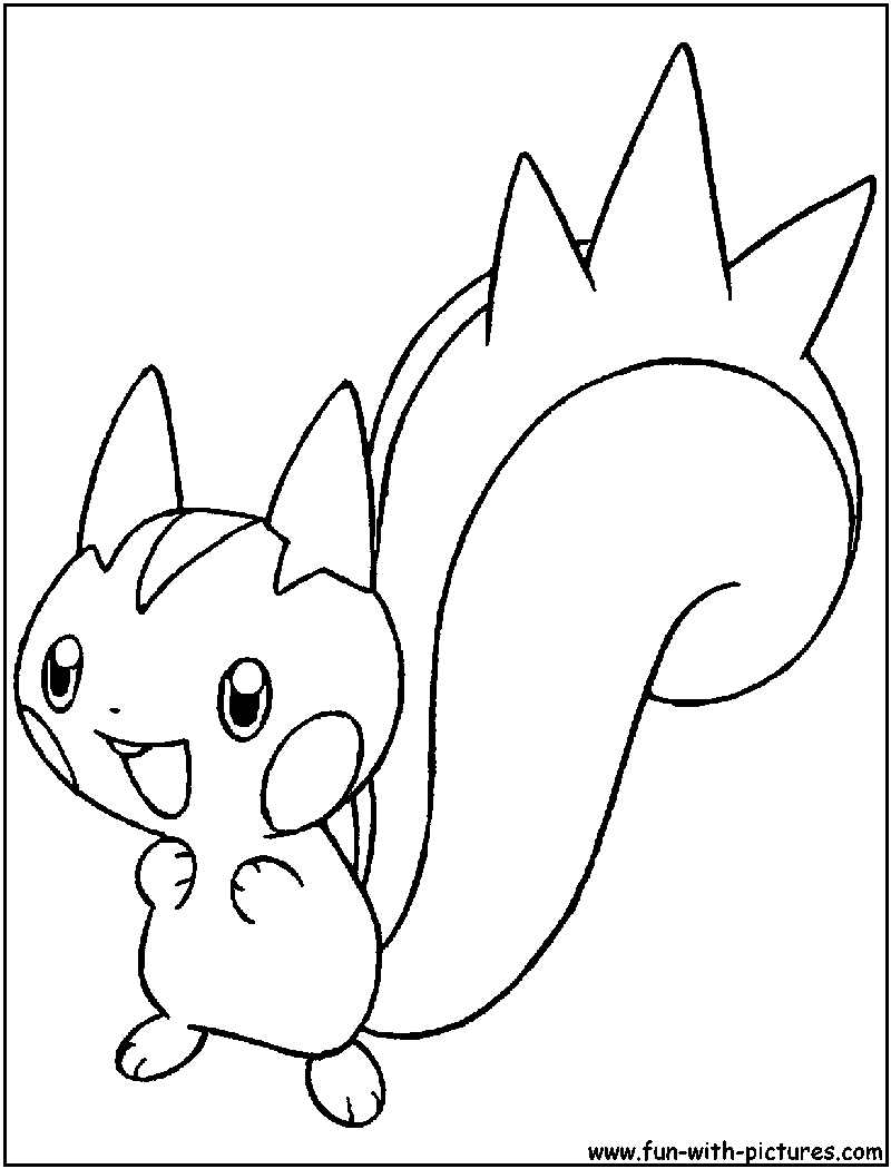 pachirisu coloring pages - photo#5