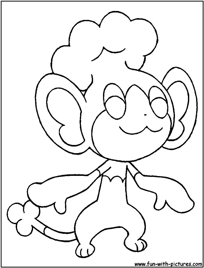 panpour coloring page - Grass Type Pokemon Coloring Pages