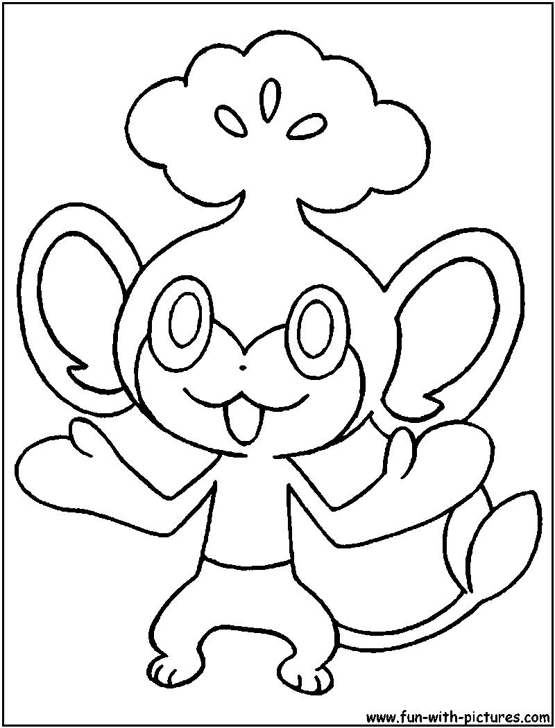 pokemon coloring pages pansage black - photo#2