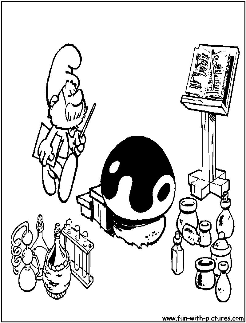 Papasmurf Coloring Page