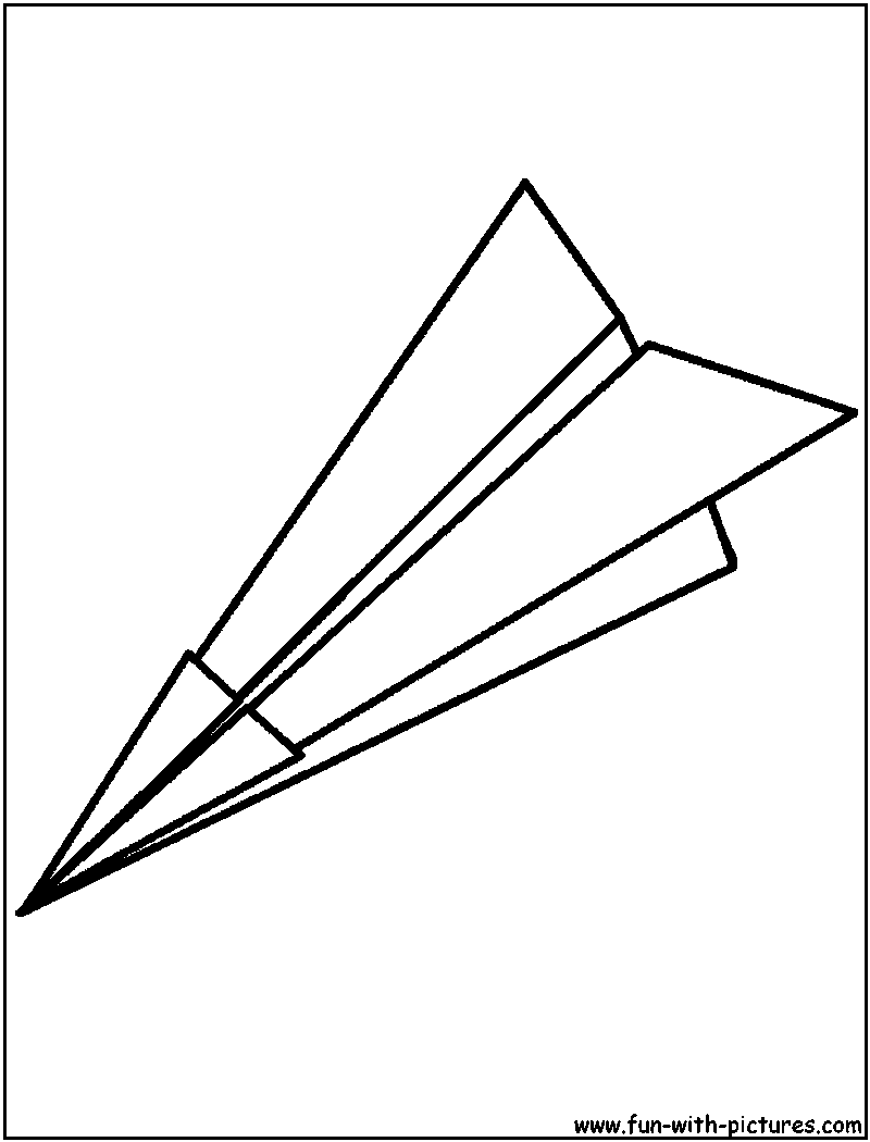 Free printable coloring pages airplanes - Paperplane Coloring Page