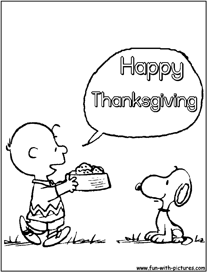 peanuts thanksgiving coloring pages printable - photo#8