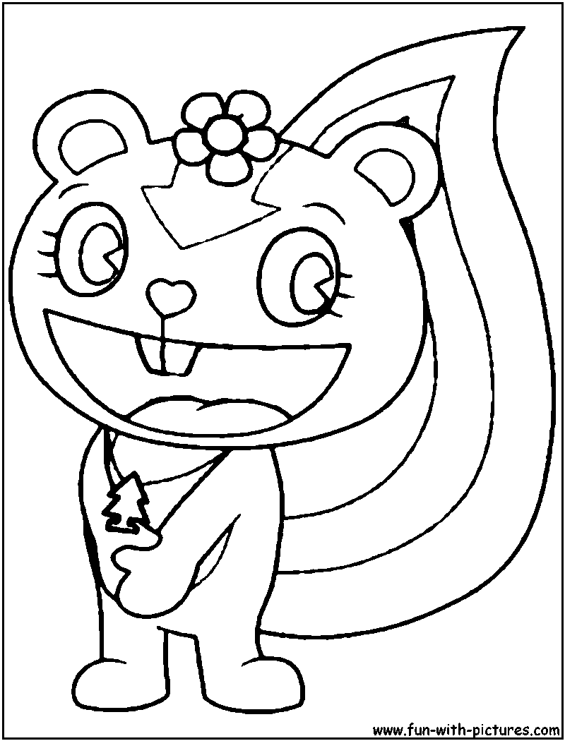 happy tree friends coloring pages - photo#13
