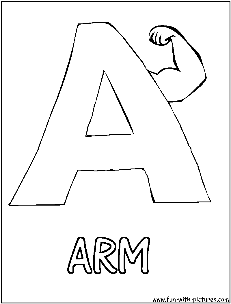 strong arm coloring pages